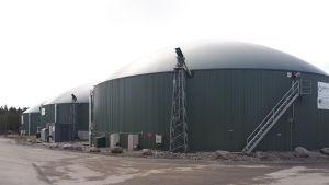Reaktorer vid Jeppo Biogas.