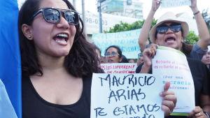 Demonstranter i Nicaragua