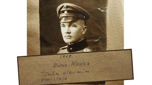 Jääkärikapteeni Uuno Koura 1918.