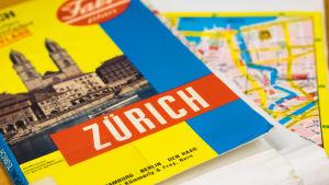 Vanha Zürichin paperikartta.