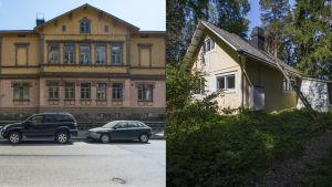 Ett hus på Parkgatan 4 i Brunnsparken och ett annat i Eugen Schaumans park på Brändö i Helsingfors.