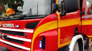 Brandbil i Åbo.