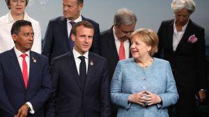 G7 gruppfoto efter att Donald Trump hade lämnat mötet.