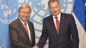 Tasavallan presidentti Sauli Niinistön isännöimaan tilaisuuteen osallistuu mm. YK:n pääsihteeri António Guterres.