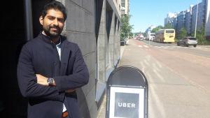 Kommande Uberchaufför Mohsin Ali.