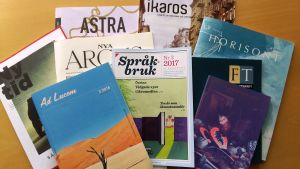 En binge finlandssvenska kulturtidskrifter.