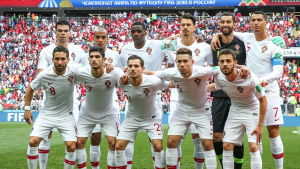 Portugals startelva mot Marocko.
