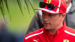 Kimi Räikkönen i Österrike inför F1-loppet i Spielberg.
