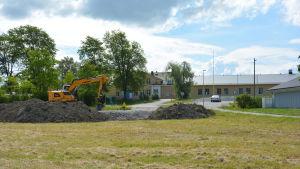 Grönområde vid Skräbböle skola.