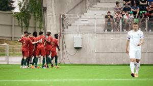 Portugal firar mål mot Finland i U19-EM.