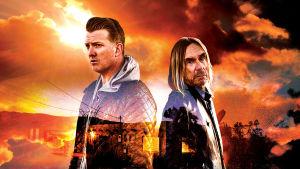Joshua Homme ja Iggy Pop elokuvan American Valhalla julisteessa