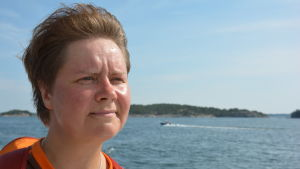 Marinbiologen Heidi Arponen.