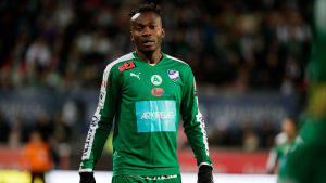 Ex-IFK Mariehamn-spelaren Anthony Dafaa klädd i grönt.