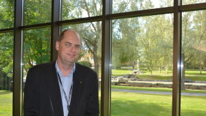 Utvecklingsdirektör Jonne Sandberg i Karleby
