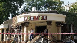 Zahartjenko dödades i en bombattack mot en ett café i Donetsk