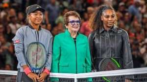 Naomi Osaka, Billie Jean King och Serena Williams.
