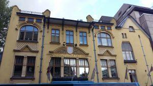 Fasaden på gamla Hotell Hamburger Börs, från slutet av 1800-talet
