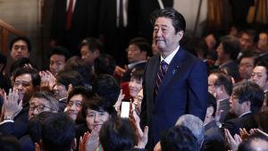 Japans styrande konservativa parti, Liberaldemokraterna återvalde Shinzo Abe med klar majoritet