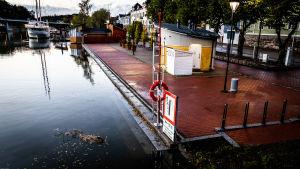 Högvatten i stadsmiljö