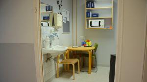 Parternas kafferum i förlossningsavdelningen.