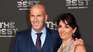 Zinedine Zidane och frun Veronique deltog i september i FIFA-galan.