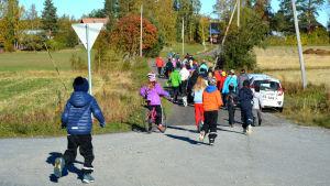 Protestpromenad mot varg i Solf.