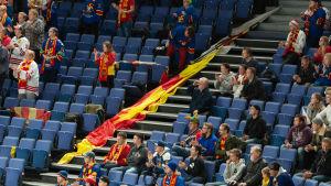Bild på Jokerits supportersektion.