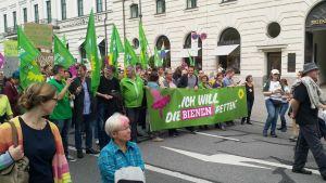 Gröna demonstrerar i Bayern.