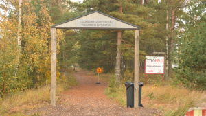 Port till Tulluddens naturskyddsområde i Hangö.