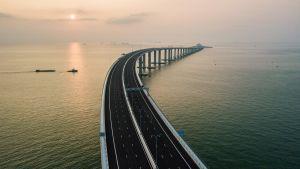 Hong Kong-Zhuhai-Macau bron, öppnad oktober 2018.