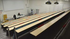 Auditorium i civiltjänstcentralen i Lappträsk.
