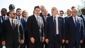 Italiens premiärminister Giuseppe Conte är värd för mötet om Libyen i Palermo