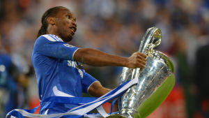 Didier Drogba firar segern i Champions League 2012.