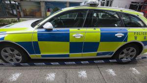 Polisbil parkerad i Kina.