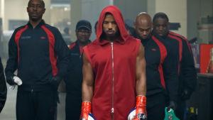 Creed på väg mot matchen med sitt team.