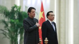 Kina har goda relationer till Pakistan vars ny premiärminister Imran Khan avlade ett av sina första tjänstebesök i Peking. Kinas premiärminister Li Keqiang var värd under besöket
