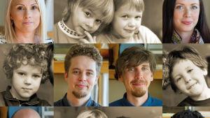 Dokumenttien Matka on pitkä ja Matka jatkuu päähenkilöitä lapsina ja aikuisina