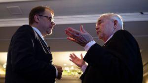Statsminister Sipilä talade också med USA:s Finlandsambassadör Bob Pence vid The Economic Club i Washington på måndagen.