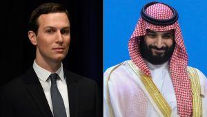 President Trumps svärson och rådgivare Jared Kushner och Saudiarabiens kronprins Mohammed bin Salman.