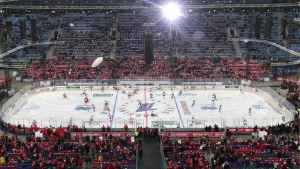 Imponerande inramning för Ryssland-Finland i St. Petersburg.