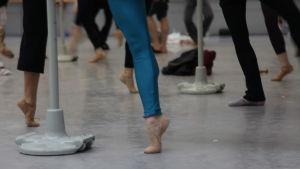 En balettdansares fot