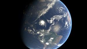 Satellitbild av orkanen Joaquin den 1 oktober 2015.