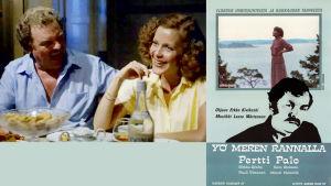 Yö meren rannalla elokuvassa Pertti Palo ja Eeva Eloranta.