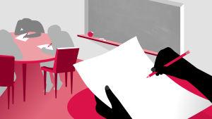 Piirros opetustilanteesta
