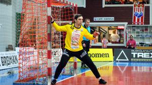 BK-målvakten Bogdan Klepa klar för att ingripa.