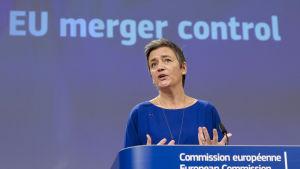 Konkurrenskraftskommissionären Margarethe Vestager.