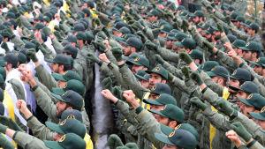 Medlemmar av det iranska revolutionsgardet svor sin trohet till den islamiska revolutionen