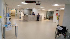 Aulan till den nya jouren på Borgå sjukhus.
