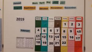 Tavla med datum med mera.