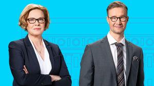 Seija Vaaherkumpu ja Sakari Sirkkanen. Suuret vaalikeskustelut